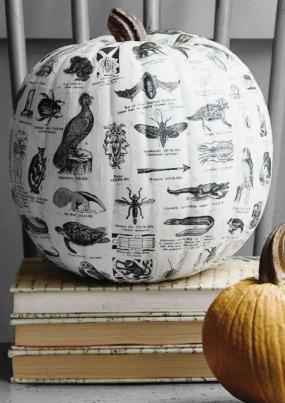 decoupaged-pumpkin