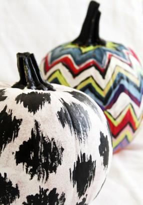 ikat-chevron-painted-pumpkins