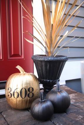 metallic-pumpkin-house-number