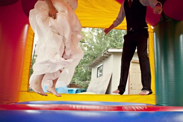 outdoor-diy-wedding-bounce-house