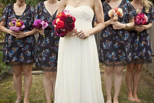 outdoor-diy-wedding-floral-bridesmaid-dresses