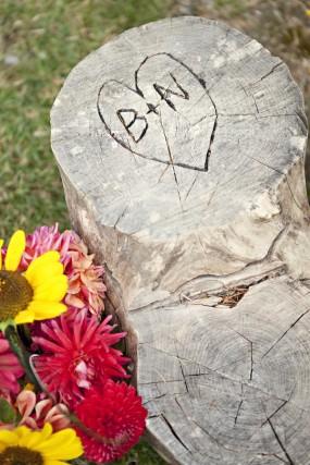 outdoor-diy-wedding-tree-monogram