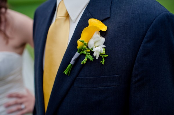 yellow-boutonniere