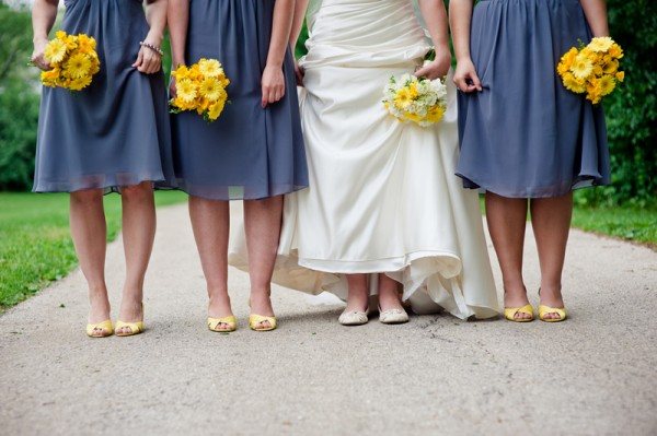 yellow-bridesmaid-shoes-and-bouquets