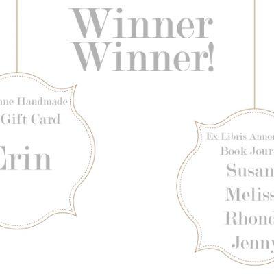 Happy Weekend + Giveaway Winners!