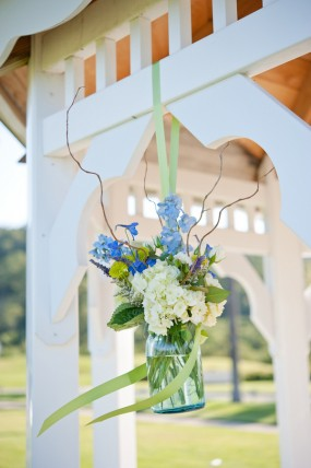blue-diy-wedding-ceremony