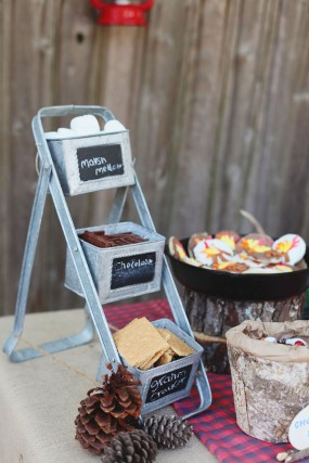 diy-camping-party-smores-bar