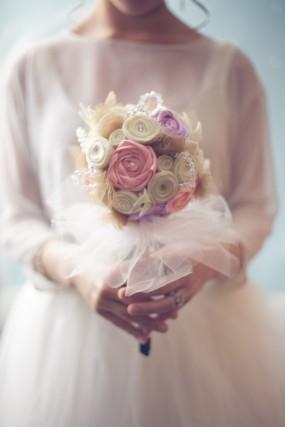 diy-fabric-flower-bouquet