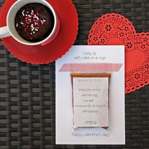 Cake in a Cup DIY Valentines