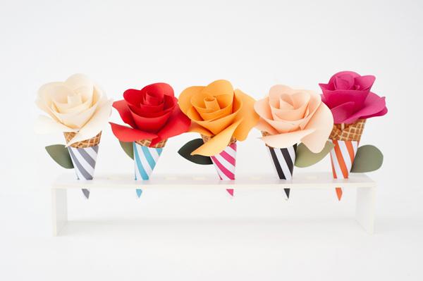 paper-flower-cones