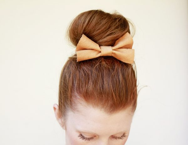 diy-hair-bow-sock-bun