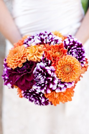 offbeat-diy-spring-inspired-california-wedding-puprle-orange-dahlia-bouquet