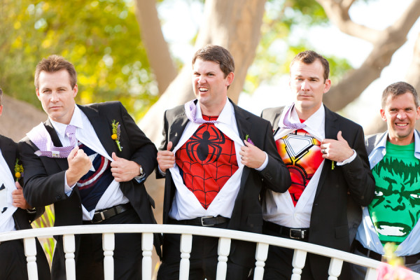 offbeat-diy-spring-inspired-california-wedding-superhero-costumes