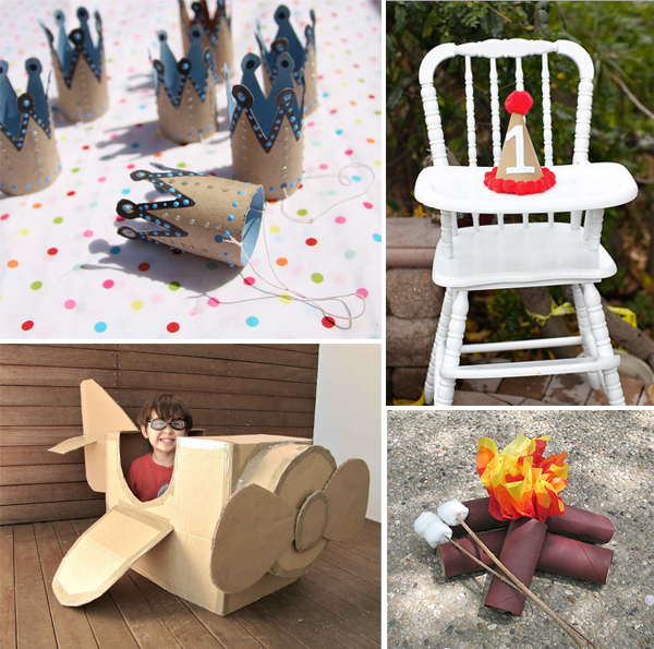recycled-cardboard-party-crafts-for-kids