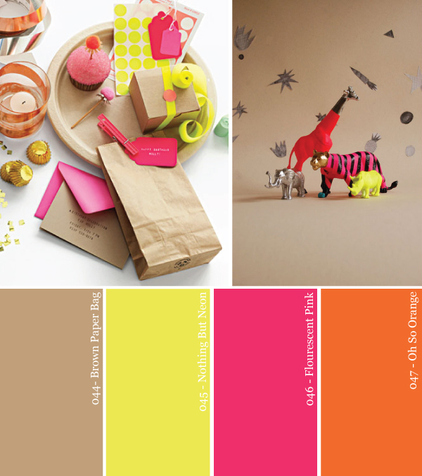 party-color-palette-kraft-paper-neon-pink-green-yellow-orange