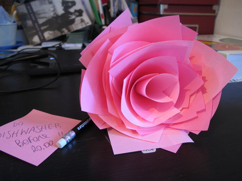 post-it-rose