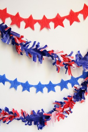 DIY Star Streamer Garland