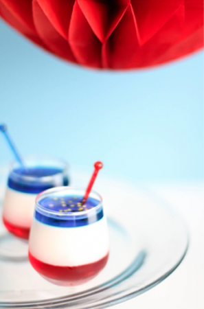 Red White Blue Panna Cotta Shooters