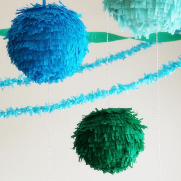 DIY Fringe Lantern Pinata