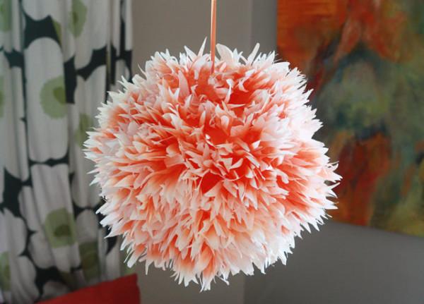 DIY Ombre Floral Lantern