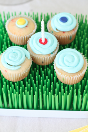 Paint Party Birthday Cupcakes