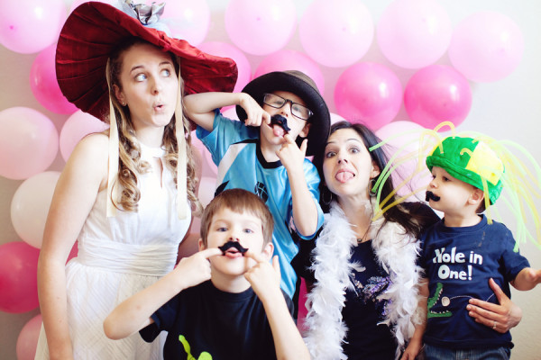 Pink Balloon Photo Booth