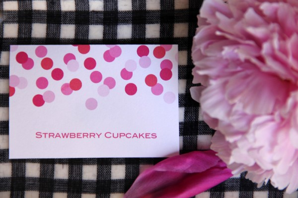 Pink Confetti Dessert Bar Labels