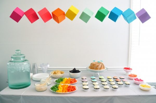 Rainbow Party Food Table
