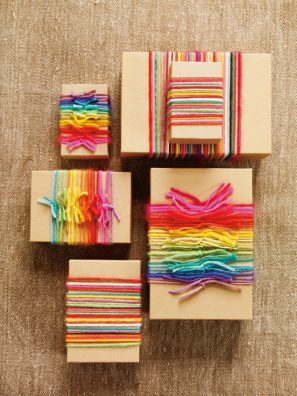 Rainbow Yarn Gift Wrap