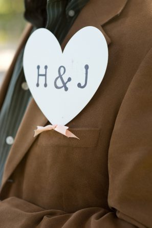 Bride and Groom Heart Sign