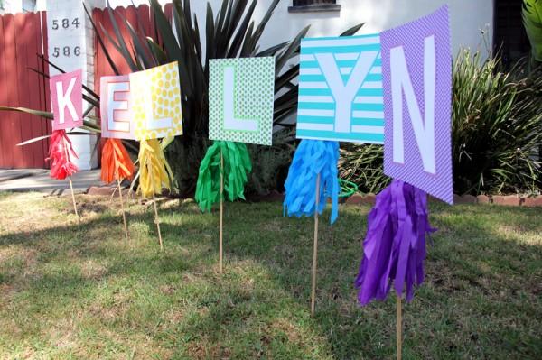 DIY Birthday Lawn Sign