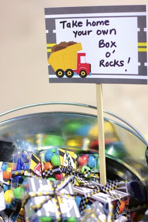 DIY Box of Rocks Party Favors