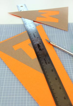 DIY Bunting Neon and Neutral