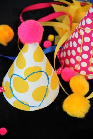DIY Embroidered Birthday Hats
