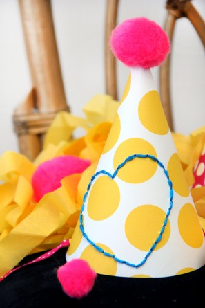 DIY Embroidered Party Hat