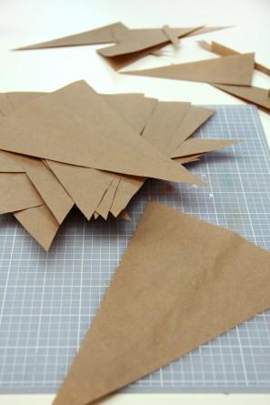 DIY Kraft Paper Bunting
