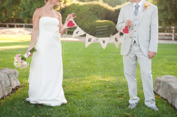 DIY Love Wedding Bunting