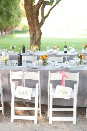 DIY Mr and Mrs Wedding Chair Signs