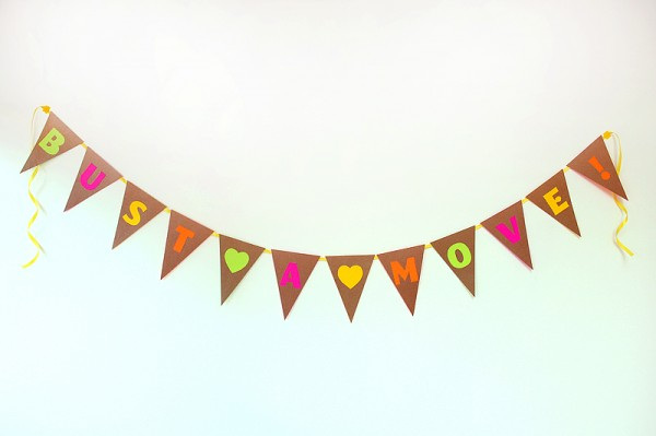 DIY Neon and Neutral Bunting