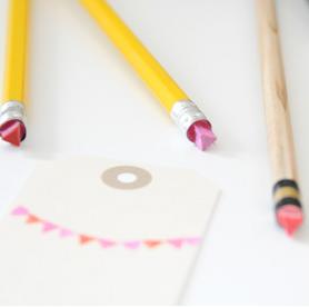DIY Pencil Eraser Stamping