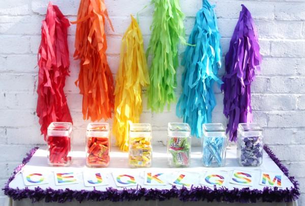 DIY Rainbow Candy Bar