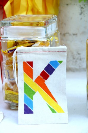 DIY Rainbow Favor Bags