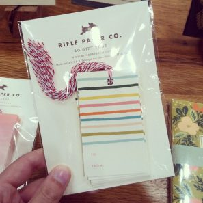 NYIGF Rifle Paper Co Gift Tags