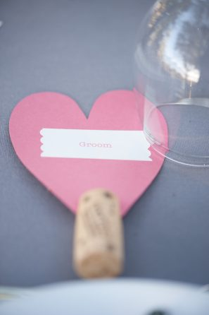 Pink Heart Groom Sign