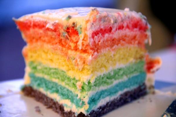 Rainbow Birthday Layer Cake