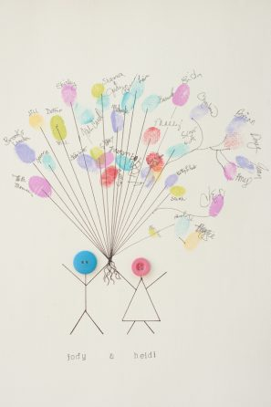 Thumbprint Balloon Guest Book