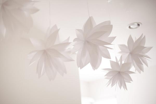 White Flower Ceiling Decor