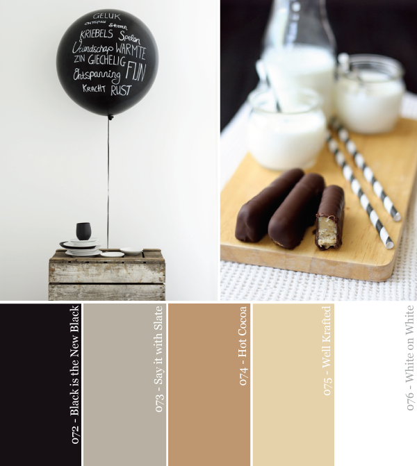 Black and White and Neutral All Over Party Color Palette