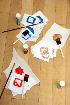 DIY Geometric Painted Picnic Blanket
