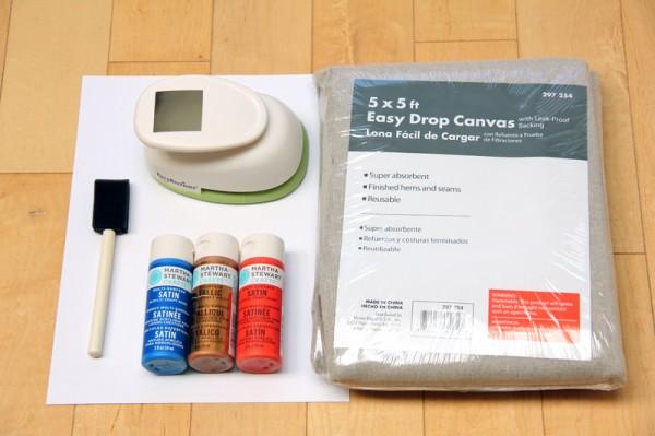 DIY Geometric Picnic Blanket Supplies